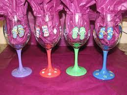 flip flop glasses for glenda   Glass painting, Wine glasses, Crafts
