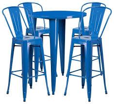 outdoor dining furniture outdoor dining sets 5 piece 30 round metal bar set