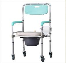 folding adjustable height chair. portable mobile toilet chairs height adjustable folding elderly seat commode chair with wheels-in living room from furniture on aliexpress.com