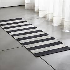 olin black striped cotton dhurrie 2 x6 rug runner reviews crate throughout x 6 remodel 8