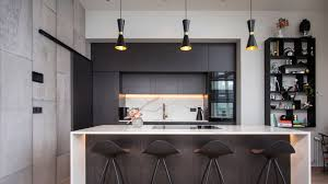 our cairo pendants add a subtle mid century modern aesthetic to this icelandic kitchen