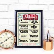 personalised gift for dad ten things i love about you