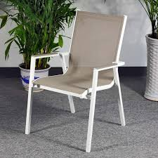 white metal outdoor furniture. Abigail Chair - White \u0026 Champagne (modern Metal Garden With Outdoor Fabric) Furniture