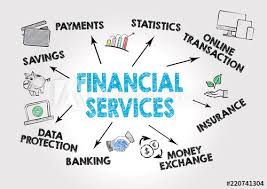 Chart Services Financial Services Concept Chart With Keywords And Icons On