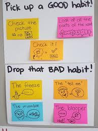 Drop That Bad Habit Pick Up A Good One Reading Workshop