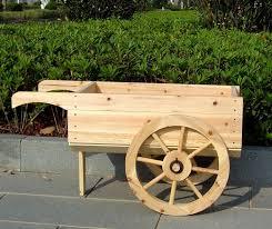 interior wooden garden cart carts wheelbarrow decorative