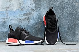 adidas shoes nmd womens black. black, sapphire-blue, red - adidas originals nmd runner womens shoes black o