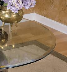 powell company 48 diameter glass table top 10mm thick with 1 bevel edge