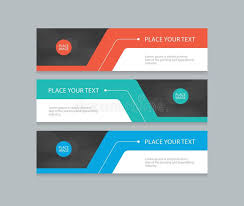 banner design template flat vector set abstract corporate business horizontal banner design