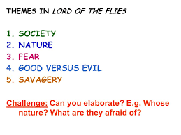 starter unscramble the anagrams to reveal the main themes big 2 themes in lord of the flies