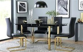 gold dining table e and black gl extending with 4 chairs leg round coast