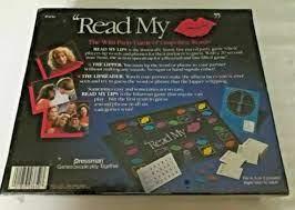 read my lips board game pressman 1990