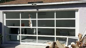 full view garage doorContemporary Aluminum  Clear Tempered Glass Garage Door  Lux
