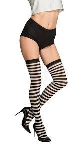 Punčochy Pruhované černo Bílé Kostymy Karnevalcz