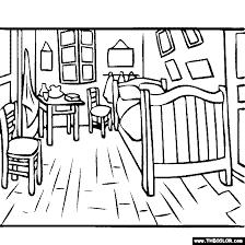 Small Picture Vincent van Gogh The Bedroom in Arles school Pinterest Van