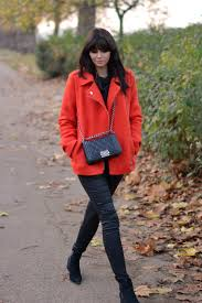 ejstyle debenhams edition preen orange boucle biker jacket chanel boy bag black fashion