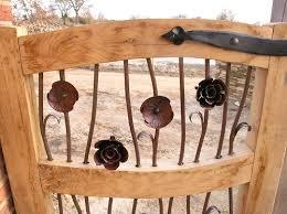 decorative garden gates. Oak Garden Gates With Decorative Metalwork E