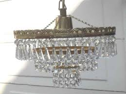 vintage 1960 70s french style crystal 3 tier chandelier ceiling chandelier 3 tier