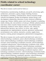 Best Ideas Of Technology Coordinator Resume Cute Top 8 School