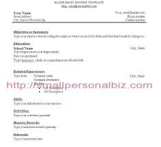 Simple Resume For First Job No Experience Gallery For Photographers