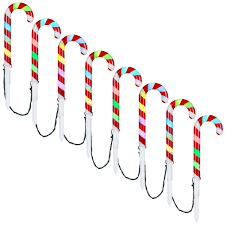 Light Up Garden Candy Canes Led Candy Cane Pathway Stakes
