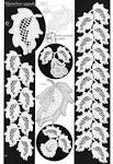 Ирландское вязание цветов и листьев