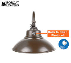 Led Gooseneck Barn Light 2 Pack Bobcat Lighting 14 Inch Bronze Led Gooseneck Barn