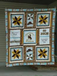 Go Team! 7 College Quilts and Blocks & University of Wyoming Graduation Quilt Adamdwight.com