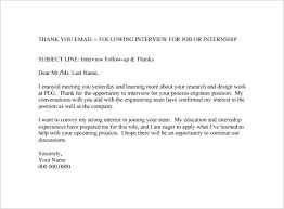 Email Thank You Letter Job Interview Format New Subject Line For