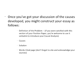 the causal analysis essay  9