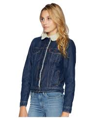 lyst levi s levi s r womens original sherpa trucker jacket authentic pumice stone women s coat in blue