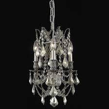 elegant 9203d13pw gt rc rosalia 3 lamp golden teak crystal antique chandelier loading zoom