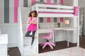 loft beds with desk for girls. Delighful Desk Amazing Back To School Ready With Kids Study Loft Beds Desk Regard  Contemporary Property Childrens Bed Underneath Plan For Girls