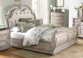 white upholstered beds. Homelegance Palace II Upholstered Bed - Weathered White Rub-Through Beds