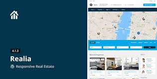 Website Templates Wordpress Stunning Realia Responsive Real Estate WordPress Theme TemplateFIT