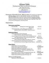 sample resumes make up artist resume examples resume