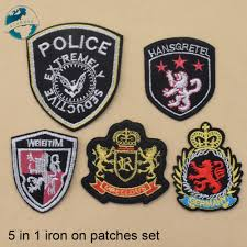 Designer Iron On Patches 5 Designs Iron On Patches Set Diy Appliques Set Embroidery