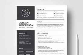 Professional Design Resume Resume Template And Cover Letter For Word Professional Clean Design