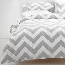 gray and white chevron duvet cover 10875 regarding design 5