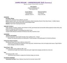 Undergraduate Resume Template Resume Examples Student Simple Resume  Examples For College