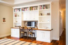 home office desk with storage. Example Of A Classic Built-in Desk Home Office Design In Melbourne With Storage O