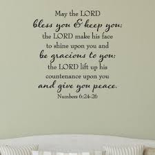 may the lord give you peace wall quotes decal on numbers 6 24 26 wall art with may the lord bless you wayfair