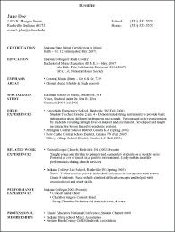 Musician Resume Example Magnificent Music Resume For College Foodcityme
