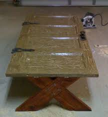 ana white old door cofee table diy projects