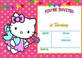 invitation card hello kitty free personalized hello kitty birthday invitations free invitation