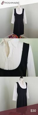 NY & CO black white blouse underlay Size 12 | Black and white blouse,  Clothes design, Black and white