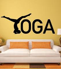 Small Picture Aliexpresscom Buy Yoga Wall Stickers Zen Healthy Lifestyle