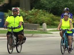 fiets dikke mensen
