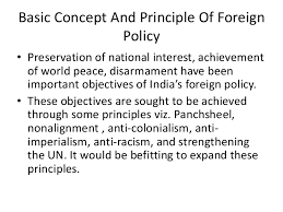 foreign policy of  2 basic concept and principle of foreign policy