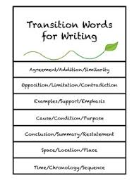 Chronology Words Writing Transition Words Posters And Flip Book By Bonnie Kowalski